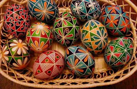 Ukrianian egg art
